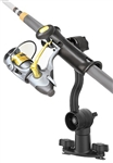 "RAM-TUBE Jr. Fishing Rod Holder with Dual T-Bolt Track Base (T-Bolt Dimensions: .48"" x .95"")"