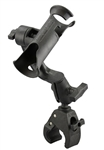 RAM-TUBE Jr. Fishing Rod Holder and Tough-Claw Base (Fits 1.0 Inch to 1.875 Inch Round Diameter and 0 to 1.6 Inch Flat Surface)