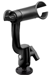 RAM-TUBE Jr. Fishing Rod Holder with RAM-ROD Revolution Ratchet/Socket System and Round Flat Surface Base