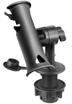 RAM-TUBE Jr. Fishing Rod Holder with Standard 4 Inch Length Post Spline and Round Flush Mounting Base