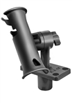RAM-TUBE Jr. Fishing Rod Holder with Standard 4 Inch Spline Length Post and Flush Mounting Base