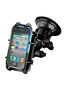 "Single 3.25"" Dia. Base with Twist Lock, Plastic Dual Pivot Arm and RAM-HOL-PD3U Universal Top Clamping Cradle (Fits Device Width 2.25"" to 3.5"" Including Most Smartphones with Cover/Case iPhone, Droid, etc.)"
