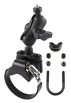 "ATV/UTV Strap or U-Bolt Base (U-Bolt Fits .5 to 1.25"" Dia., Strap Base Fits 1.57 to 3.15"" Dia.), COMPOSITE SHORT Sized Length Arm and RAP-B-379U-252025 Video Camera Adapter (Common Use Sony Action Cam)"