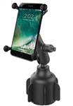 "RAM Stubby Cup Holder Base with Composite Standard/Medium Sized Arm & RAM-HOL-UN10BU Large X-Grip Phone Holder (Fits Device Width 1.75"" to 4.5"")"