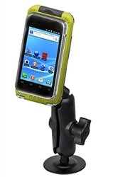 Adhesive Flat Surface Mount with Large RAM-HOL-AQ7-2CU Aqua Box Pro 20 Waterproof Smartphone Holder