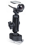 "COMPOSITE Track Base (RAP-B-383U) with 1.0"" Dia. Rubber Ball and Standard Sized Length Arm with RAM-B-202U-GA63 Garmin VIRB Camera Adapter"