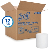Scott 01000 High Capacity Hard Roll Towel Case of 12 Rolls