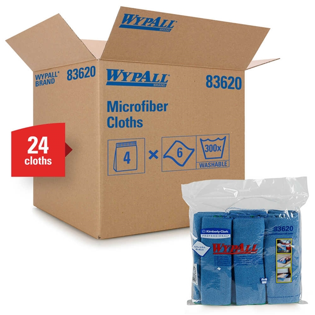 WypAll 83620 Microfiber Cloths with Microban