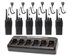 Motorola CP200d 6 Pack with Speaker Mics and 6-Bank Charger