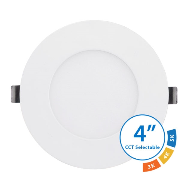NICOR DLE43120SRDWH Selectable Edge Lit LED Downlight
