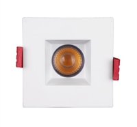 NICOR DQD 2-inch Square LED Recessed Downlight with Baffle
