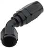 BLACK -6AN 45 DEGREE SWIVEL HOSE END