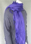 Love Quotes Tassel Scarf in Amethyst