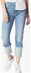 7 For All Mankind Fashion Boyfriend with Wide Raw Cuff