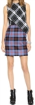 McQ Alexander McQueen Tartan Drape Top  Dress