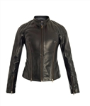 McQ Alexander McQueen  Zip Detail Leather Jacket