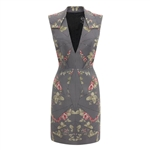 McQ Alexander McQueen Kaleidoscope Rose Party Dress