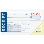 "Money/rent receipt bk,tape bound,2-part,2-3/4""x5-3/8"",we, sold as 1 each"