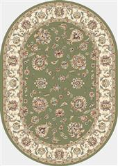Dynamic rugs anov35573654464 ancient garden rug, 2.7x4.7 ov, green/ivory
