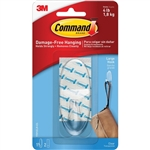 3M Command Hook, Large, Clear, 2 Pack