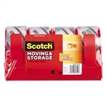 Scotch - moving & storage tape, 1.88-inch x 38.2 yards, 3-inch core, clear, 4 rolls/pack, sold as 1 pk