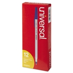 Universal - economy ballpoint stick oil-based pen, blue ink, medium, dozen, sold as 1 dz
