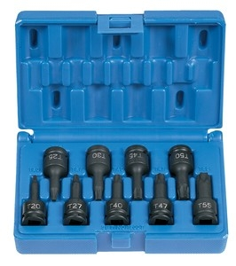 "3/8"" Drive 9 Piece Internal Star Impact Driver Set"