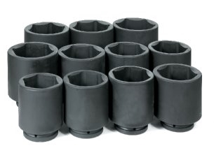 "1"" Dr. 11 Pc. Deep Metric Set 76mm to 115mm"