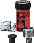 "Norco 910027A 10 Ton Short Ram with Adapter, 2-1/8"" Stroke"