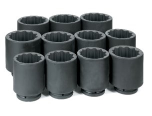 "1"" Dr. 11 Pc. Deep Metric Set 76mm to 115mm - 12 Point"