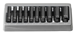 "Grey Pneumatic 9712MDG .1/4"" Drive 12 Pc. Deep Metric Magnetic Impact Set"
