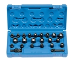 "1/4"" Dr. 23 Pc. Std. Length SAE/Met. Magnetic Set"