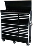 Montezuma BK5618C 56 18-Drawer Top Chest & Roller Cabinet Toolbox Combo (black) (1-BK5607CH, 1-BK5611TC)