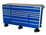 Montezuma BU7217MZ 72 Elite 17-Drawer Roller Cabinet Toolbox (blue)