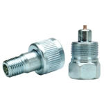 "BVA CRZ14 1/4"" NPTF Regular Flow Zinc Plated Coupler"