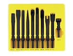 10 Pc. General Service Chisel Set - .401 Shank