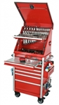 "Montezuma PR2606MZC 26"" Crossover Top Chest & 6-Drawer Roller Cabinet Toolbox Combo (red) (1-IM350R, 1-PR2606MZ)"
