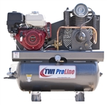 TWI Proline TWI-1330HG 360cc/11HP Two Stage, 30 Gallon Gas Powered Compressor-Stationary Mount