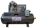 TWI Proline TWI-580H1 5 HP 80 Gallon Horizontal 2 Stage, 230V/1 Phase Compressor-Leeson Motor