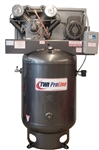 TWI Proline TWI-75120V3 7.5 HP 120 Gallon Vertical 2 Stage, 208-230/460V/3 Phase Compressor-Lincoln Motor
