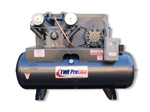 TWI Proline TWI-7580H1P 7.5 HP 80 Gallon Horizontal 2 Stage, 230V/1 Phase Compressor-Leeson Motor