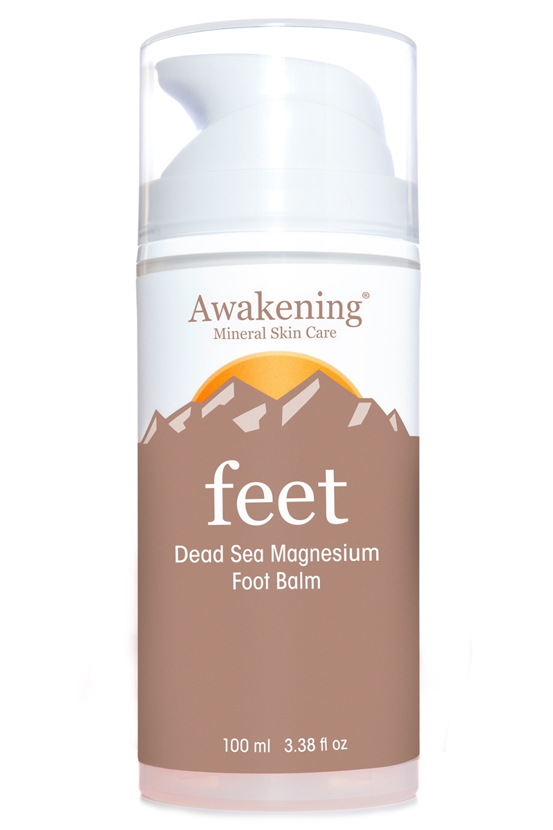 FEET Magnesium-rich Soothing Foot Balm with Arnica,  3.38oz/100ml Airless Pump (Aroma of Lemongrass)