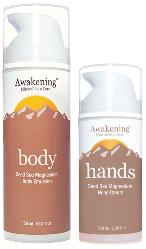 Awakening HANDS 3.38oz Tube + Awakening BODY 5.07oz Pump Bottle Value Set