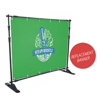 8' x 5' Replacement Vinyl Print For Telescopic Step & Repeat Banner Stand