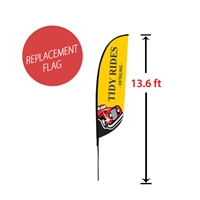 "Replacement 28"" x 128"" Medium Feather Flag"