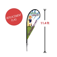 "Replacement 39"" x 93"" Medium Tear Drop Flag"