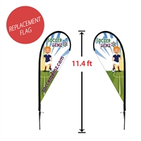 "Replacement 39"" x 93"" Medium Double-Sided Tear Drop Flag"