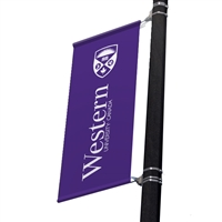 "Replacement Street Pole/ Wall Mount Banner 30"" with 30"" x 36"""