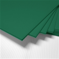 "24"" x 18"" Blank Corrugated Plastic Sheets - Green"