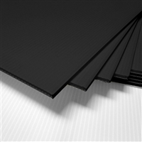 "24"" x 18"" Blank Corrugated Plastic Sheets - Black"